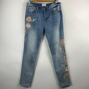 Driftwood Jackie Floral Embroidered Skinny Jeans 3